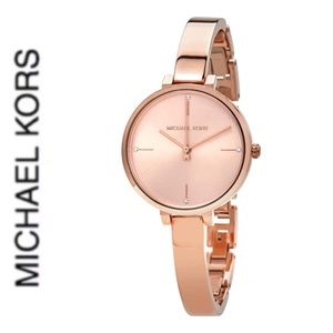 NWT authentic MK rosegold tone slim watch
